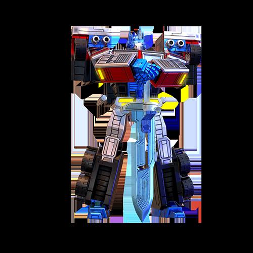 镭射擎天柱机器人模式图片